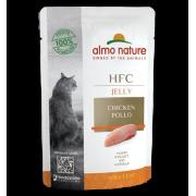 Влажный корм Almo Nature HFC Jelly with Chicken Курица в Желе для кошек, 55гр...