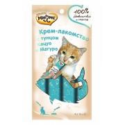 Мнямс Крем-лакомство для кошек с тунцом Кацуо и Магуро 15 г х 4 шт....