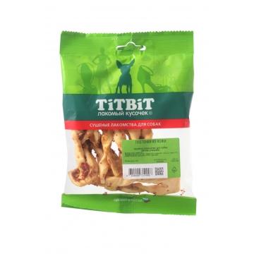 Лакомство TiTBiT для собак плетенки из кожи (мягкая упаковка)