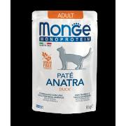 Влажный корм Monge Cat Monoprotein Pouch паучи для кошек утка 85г...