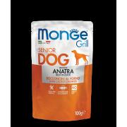 Влажный корм Monge Dog Grill SENIOR Pouch паучи для пожилых собак утка 100г...