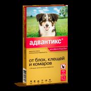 Капли Bayer Адвантикс 250 (4пип) противопаразитарные 10-25кг для собак, поштучно...