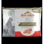 Влажный корм Almo Nature HFC Mega Pack Natural Chicken and Shrimps для кошек с к...