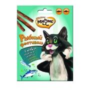 Мнямс Рыбный фестиваль Лакомые палочки для кошек (лосось, форель) 3х4 г...