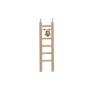 Игрушка для птиц RP8578 Лесенка деревянная малая с бусами и колокольчиком...