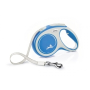 Рулетка Flexi NEW LINE Comfort лента 5 м серый/синий