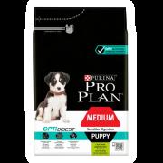 Сухой корм Pro Plan для щенков средних пород с чувствительным пищеварением, ягне...