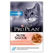Влажный корм Pro Plan Nutri Savour Housecat лосось в соусе для кошек, 85гр...