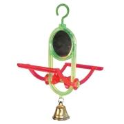 Игрушка для птиц Triol качели с зеркалом и колокольчиком 7*15 см...