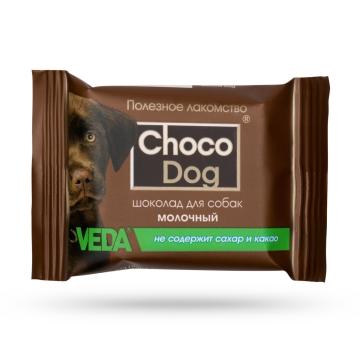 """Лакомство Веда """"Choco Dog"""" молочный шоколад для собак (15г)"""