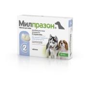 Антигельминтик KRKA Милпразон для щенков и собак до 5кг, 1таб./1-5кг, 2таб...