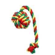 Игрушка Doglike мяч с канатом цветной