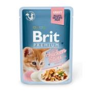 Влажный корм Brit Premium 0.085 Кусочки из куриного филе в соусе пауч для котят ...