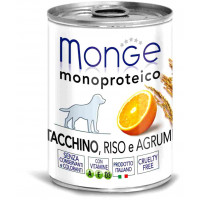 Monge Dog Monoproteico Fruits консервы для собак паштет из индейки с рисом и цитрусовыми 400г