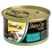 Консервы GimCat ShinyCat для кошек из цыпленка с креветками 70 г...