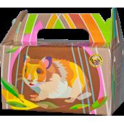 Переноска Вака картон для хомяков и мышей