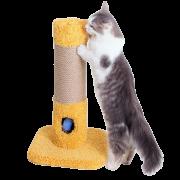 Столбик-когтеточка ЕТК Мышь в норе 1. (джут) с отверстием,  игрушки на резинке, ...