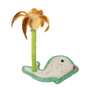 Когтеточка Triol Столбик с перьями, основание Дельфин 27*13*30.5 см...