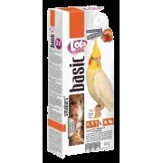 Лакомство LoLo Pets Smakers с фруктами для средних попугаев, 90 гр...