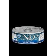 Farmina N&D Cat Ocean для кошек, тунец и креветки 80г
