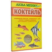 """Корм Аква меню """"Коктейль"""" ежедневный для аквариумных рыб (2 в 1) 15гр ..."""