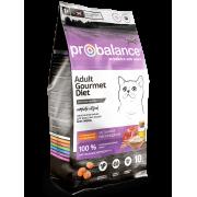 Сухой корм ProBalance Gourmet Diet для кошек с говядиной и кроликом, 10кг...