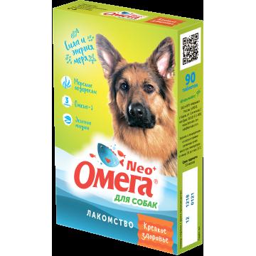 """Мультивитаминное Лакомство Омега Neo """"Крепкое здоровье"""" для собак с морскими водорослями (90таб)"""