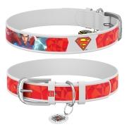 """Ошейник WAUDOG Design """"Супермен"""" Белый"""