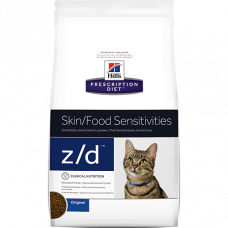Сухой гипоаллеренный корм для кошек  Hill's Prescription Diet z/d Food Sensitivities при пищевой аллергии, 2 кг