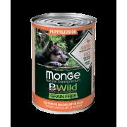 Monge Dog BWild GRAIN FREE Puppy&Junior беззерновые консервы из утки с тыкво...
