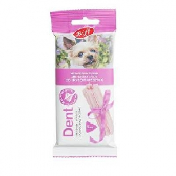 "Лакомство Biff снек ""Dent"" для чистки зубов вкус креветок для собак мелких пород (5 шт)"