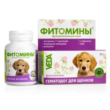 """Фитомины Веда """"Гематодог"""" для щенков (50г)"""