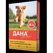 Apicenna: цветной ошейник Дана Ультра инсектоакарицидный для собак 60см, красный...