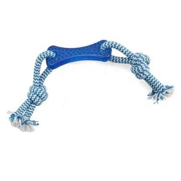 Игрушка Triol из термопластичной резины Кость с верёвкой 8,5*25 см