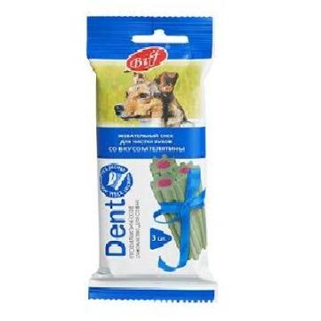 """Лакомство Biff снек """"Dent"""" для чистки зубов вкус телятины для собак средних пород (3 шт)"""