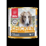 Консервы Blitz Classic Dog Chicken & Rice Minced для собак всех пород и возр...