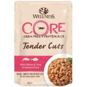 Влажный корм CORE TENDER CUTS для кошек лосось с тунцом в виде нарезки в соусе 8...