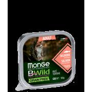 Консервы Monge Cat BWild GRAIN FREE беззерновые из лосося с овощами для взрослых...