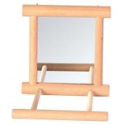 Зеркало Trixie деревянное с жердочкой 9*9см
