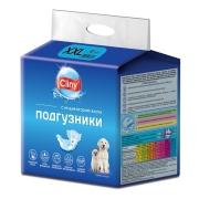 Подгузники Cliny для собак и кошек размер XXL (25-40 кг), 6шт...
