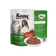 Влажный корм Karmy Sterilized Телятина. Мясные кусочки в соусе для стерилизованн...