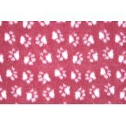 Коврик ProFleece меховой 1х1,6 м бордовый/белый