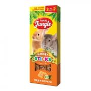 Лакомство Happy Jungle мед и фрукты для кроликов, шиншилл, морских свинок...