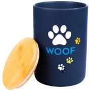 Бокс КерамикАрт керамический для хранения корма для собак WOOF 1900 мл, черный...