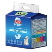 Подгузники Cliny для собак и кошек размер XS (2-4 кг, 15-25см), 11шт....