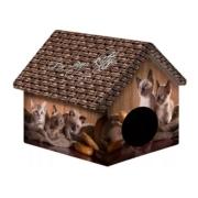 Дом PerseiLine для животных Дизайн Котята и мешковина 33х33х40 см...