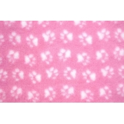 Коврик ProFleece меховой 1х1,6 м розовый/белый