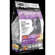 ProBalance Gourmet Diet корм сухой для кошек с говядиной и ягненком ...