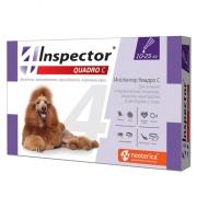 Капли Inspector Quadro от внешних и внутренних паразитов (от 10 до 25кг) 1 пипет...