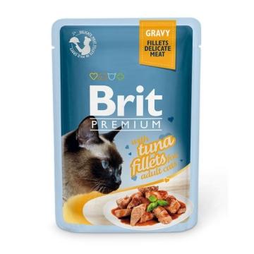 Влажный корм Brit Premium 0.085 Кусочки из филе тунца в соусе пауч для кошек